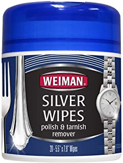 Weiman Silver Wipes - 6 packs of 20 wipes