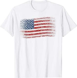USA Flag Veterans Day Shirt Vintage Patriotic American Flag T-Shirt