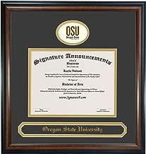 Signature Announcements Oregon State University (OSU) Graduate Graduation Diploma Frame with Sculpted Foil Seal & Name (Matte Mahogany, 16 x 16)