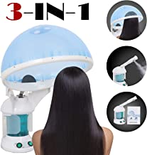SUPER DEAL Portable 3-in-1 Hair and Facial Steamer with Bonnet HoodHumidifier Hot Mist Moisturizing for Personal Care Use