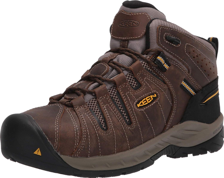 KEEN Utility Men's Flint 2 Mid Steel Toe Non Slip Work Boot