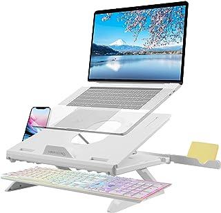 Naspaluro ノートパソコンスタンド PCスタンド タブレットスタンド 9段階調整可能 スマホスタンド付き 放熱性抜群 姿勢改善 PC/MacBook Air/MacBook Pro/ラップトップ/iPad/kindle/タブレットに対応...