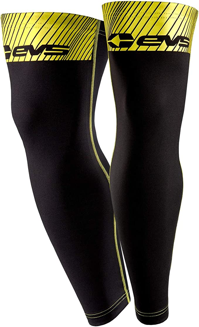 Black Adult S Small NEW EVS Knee Brace Sleeves HIVIS Yellow