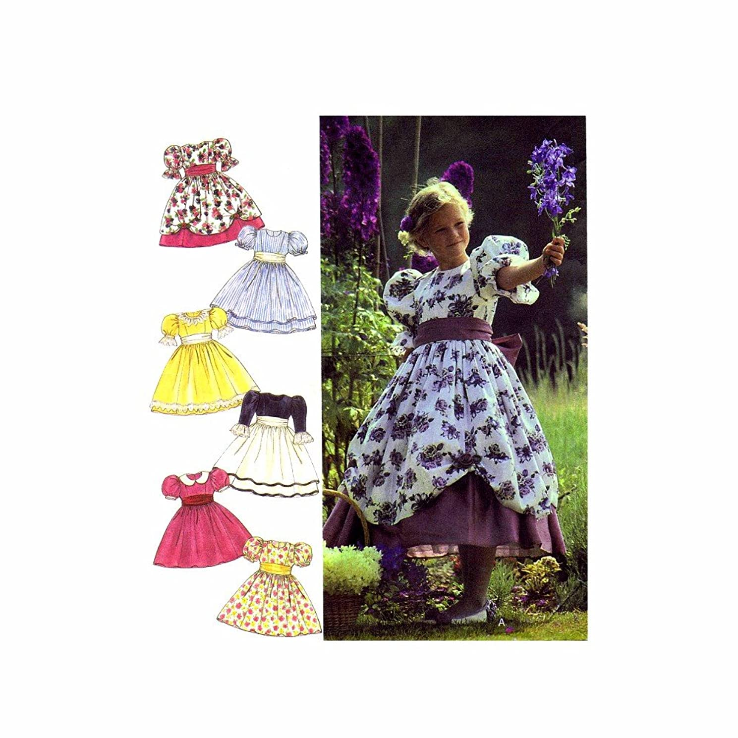 Girls Full Skirt Dress with Overskirt Style 2715 Sewing Pattern Size 3 - 4 - 5 - 6 - 7 - 8