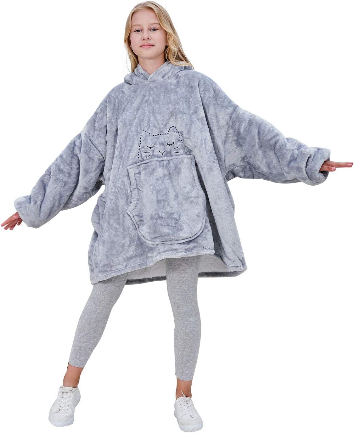 SINOGEM Sherpa Hoodie Blanket for Kids-Super Oklahoma City Mall Soft Cozy Cat Houston Mall Warm