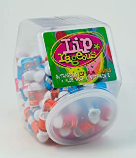 Lip Rageous Lip Balm Assortment - (1) Unit of 100 Pieces - Assorted Flavors - for Kids, Boys and Girls, Party Favors, Piñata Stuffers, Children's Gift Bags, Carnival Prizes, Dental Bags