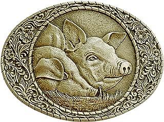 Men's Pig Heads Belt Buckle