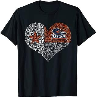 UTSA Roadrunners Texas Flag Heart T-Shirt - Apparel