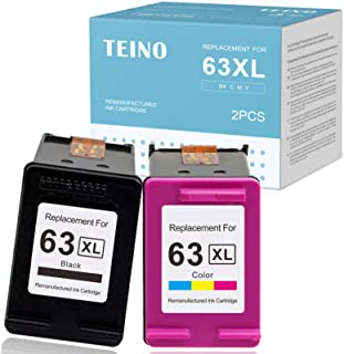 Best TEINO Remanufactured Ink Cartridge Replacement for HP 63XL 63 XL use with HP OfficeJet 3830 4650 5255 5258 4655 4652 3833 Envy 4520 4512 4516 DeskJet 1112 3630 3632 2130 (Black, Tri-Color, 2-Pack) Review