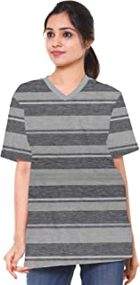 EASY 2 WEAR ® Women V Neck T Shirt - Loose and Long Fit -Sizes S to 5XL
