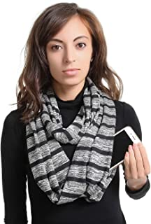 Infinity Scarf With 2 Zipper Pocket or Infinity Scarf With 1 Zipper Pocket