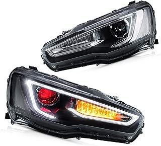 YUANZHENG Sequential LED Headlights for [Mitsubishi Lancer EVO X Sedan 2010-2018] YAA-YS-0162CH (Red)