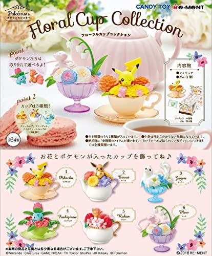 THIRD PARTY - Set De 6 Figurines Pokemon Floral Cup Collection - 4521121204291