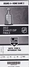 2012 STANLEY CUP FINAL FULL TICKET NEW JERSEY DEVILS @ LOS ANGELES KINGS GAME 4