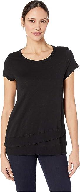 2e2b8a5625ea44 Mod-o-doc Slub Jersey Asymmetrical Flounce Hem T-Shirt at Zappos.com