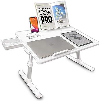 Cooper Cases Desk Pro 折りたたみ ローテーブル 高さ調整 角度 (ホワイト)