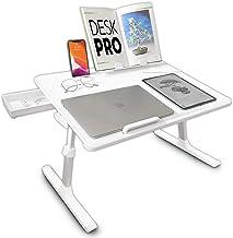 Cooper Desk PRO [XL Adjustable Folding Laptop Desk] - Height & Tilt Angle   Leather Top for Work, Study, Bed   Reading Sta...
