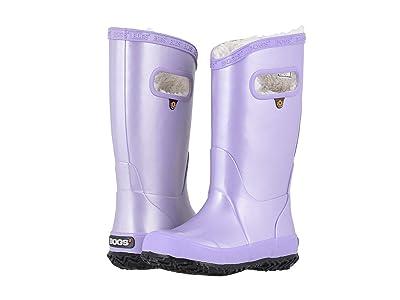 Bogs Kids Rain Boots Metallic Plush (Toddler/Little Kid/Big Kid) (Lavender) Girls Shoes
