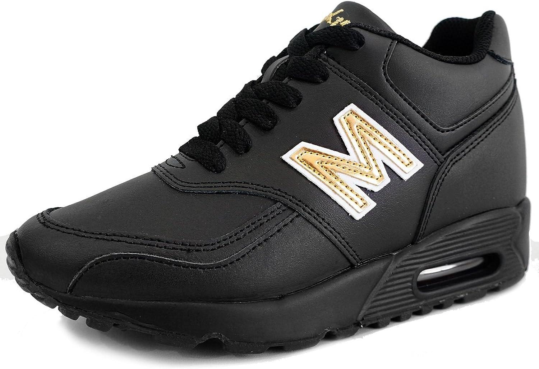 MNX15 Women's Elevator shoes Height Increase 3.9  ARON Black
