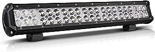 20 Inch LED Light Bar Offroad Lighting Drving Lights Led Fit Polaris RZR Ranger Atv Utv Jeep Boat Golf Cart (Flood Spot Comobo Beam 126W)