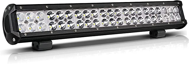 20 Inch LED Light Bar Offroad Lighting Drving Lights Led Fit Polaris RZR Ranger Atv Utv Jeep Boat Golf Cart (Flood Spot Comobo Beam 126W)