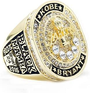 BOAI Mens Jewelry Titanium Steel 2016 Year Kobe Lakers Championship Rings