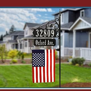 Super Reflective USA Handcrafted Boardwalk Address Sign - 58