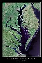 Terra Prints Chesapeake Bay Virginia - Maryland Satellite Poster Map L 24 x 36 inch