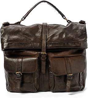 Ira del Valle - Bolso vintage para hombre unisex, de piel auténtica, bolsa suave grande de mano con bandolera, modelo San ...