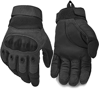 Military Knuckle Tactical Gloves, Motorcycle Riding Full Finger Driving Gloves