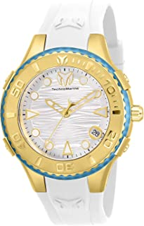 Technomarine Women's Cruise Stainless Steel Quartz Watch with Silicone Strap, White, 23 (Model: TM-118000)