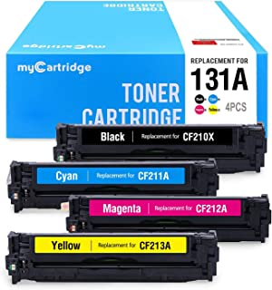 myCartridge Remanufactured Toner Cartridge Replacement for HP 131A CF210A 131X CF210X CF211A CF212A CF213A Fit for HP Laserjet Pro 200 Color M251nw MFP M276nw Canon MF8280Cw LBP7110Cw Printer(4 Pack)