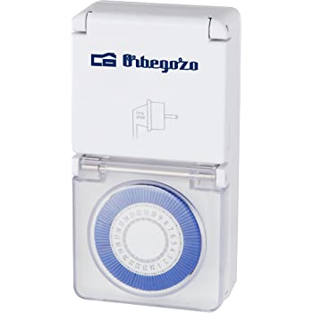 Orbegozo PG 10 Programador Diario 24 horas, Potencia Máxima 3600 W, Interruptor ON/OFF, Apto para Exterior, Índice de Protección IP-44
