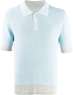 JACQUEMUS Luxury Fashion Mens 205KN0420550320 Light Blue Polo Shirt | Spring Summer 20