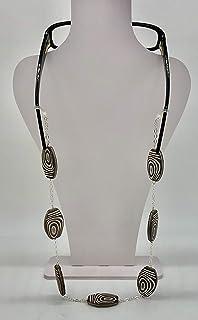 Collana porta occhiali, cordino occhiali, catena porta occhiali fatti a mano, hand made, made in Italy, gioielli artigianali