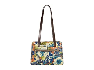 Patricia Nash Dauphine Satchel (Blue Clay/Floral) Handbags
