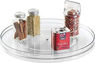iDesign plateau tournant, extra-grand plateau pivotant en plastique pour épices et ingrédients de cuisine, socle tournant ...