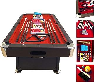 Mesa de billar modelo 7 FT RED DEVIL FULL OPTIONAL juegos de billar pool Medición de 188 X 96 cm FULL carambola Nuevo embalado disponible