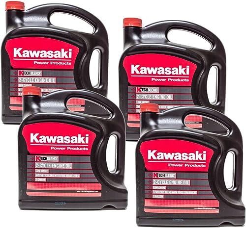 new arrival Kawasaki 4PK Genuine discount OEM 2-Cycle K-Tech Engine Oil 99969-6086 lowest 1 Gallon online