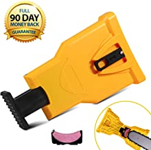 OneBom Chain Saw Sharpeners, Chainsaw Sharpener, Chainsaw Teeth Sharpener, Chain Sharpener for Chainsaws, Chain Saw Blade Sharpener with Replaceable Sharpener Grindstone