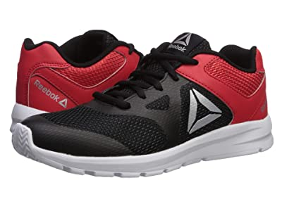 Reebok Kids Rush Runner (Little Kid/Big Kid) (Black/Red/Silver) Boys Shoes