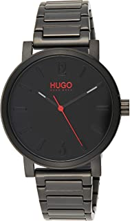 Hugo Boss Men's Black Dial Ionic Plated Black Steel Watch - 1530118