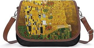 Gustav Klimt The Kiss Damen Vintage Taschen Handtasche Retro Schultertasche Unterarmtasche