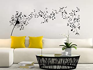 Dandelion Wall Decal Flowers Music Musical Notes Nature Plants Home Interior Design Art Mural Vinyl Sticker Bedroom Living Room Decor NS971 (22