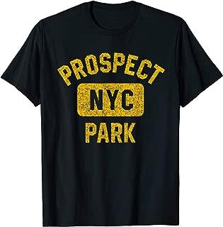 Brooklyn Prospect Park NYC Distressed Amber Print T-Shirt