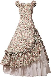 Womens Satin Ruffles Gothic Wedding Party Dress