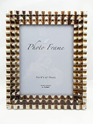 8x10 Chequer Silver With Bronze Picture Frame