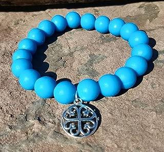Blue Silcone Bracelet Bella Cuff not Rustic Cuff Catherine