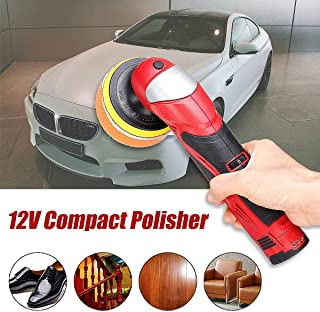 Car Polisher 12V 5 Levels Variable Speed 3000Rpm Car Paint Care Tool Polishing Machine Floor Electric Polishing Compact Pol