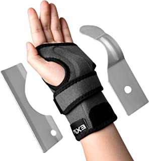 EXski Carpal Tunnel Wrist Splint - Wrist Support Brace for Arthritis Tendinitis with Palm Cushion Pad Right Left Hand